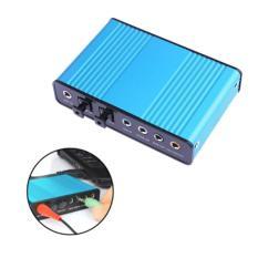 External USB Sound Card Channel 5.1 7.1 Optical Audio Card Adapter (Blue) – intl