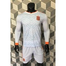 Quần áo bóng đá tay dài Tây Ban Nha sân khách 2018 World Cup