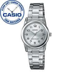 Đồng hồ nữ dây thép không gỉ Casio Standard Anh Khuê LTP-V001D-7BUDF