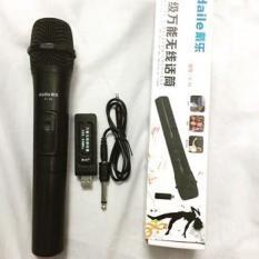 Micro Karaoke không dây cho loa kéo Daile V10 (đen) – Hỗ trợ các thiết bị có jack cắm 3.5mm và 6.5mm