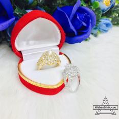 Nhẫn hột cao nữ cao cấp mạ vàng Tinashop