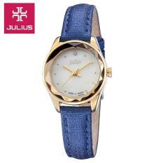 Đồng hồ nữ JULIUS JA723 dây da (xanh dương)