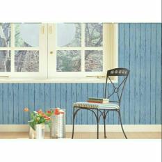 10m Giấy dán tường sẵn keo khổ 45cm hình Ván xanh