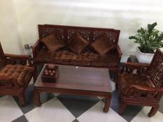 Bộ 3 Tấm Nệm lót ghế Dạng Thảm Nhung 1 màu – Chần bông Dày Dặn