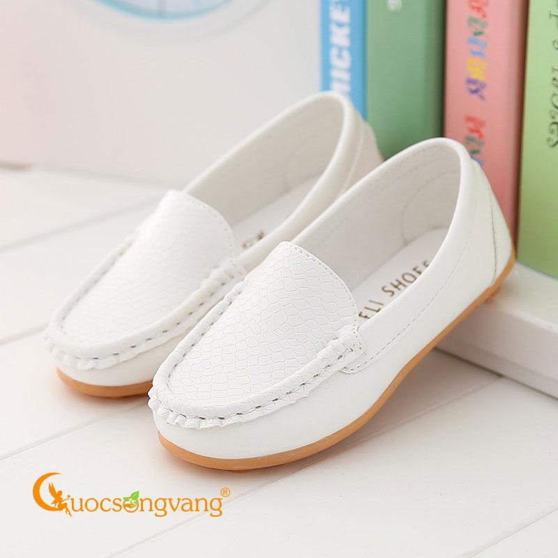 Giày bé trai đẹp mọi màu trắng giày bé trai chống trượt GLG105