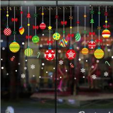 Decal dán tường Noel, giáng sinh, Christmas quả cầu treo – XH6258