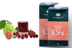 Nước ép trái cây nguyên chất nectar ổi Le Fruit hộp 1L