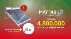 Máy nước nóng năng lượng mặt trời ECO 140 Lít.