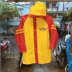 Áo mưa hình Po ke mon màu đỏ vàng dành cho trẻ em , học sinh và các bé có nhiều size (M,L) (Thái Lan) – 240PVCPO199
