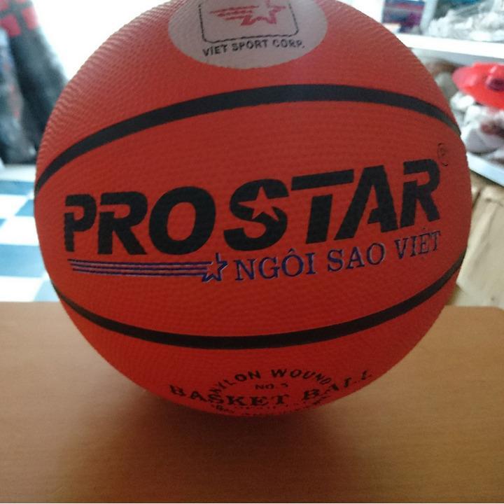 Quả bóng rổ cao su Prostar số 5 (cam) + Tặng bộ kim bơm và lưới đựng bóng