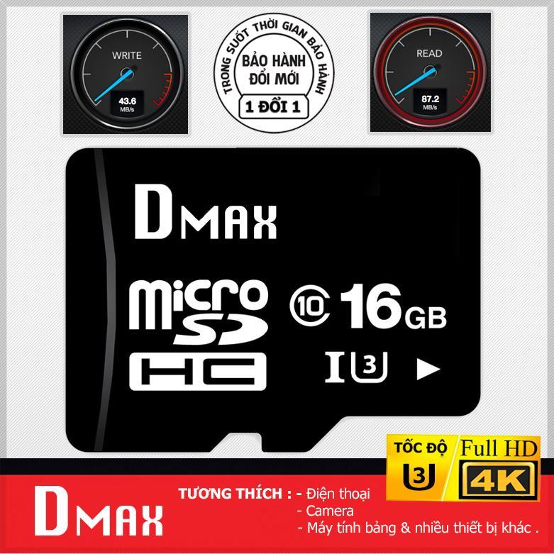 Thẻ nhớ 16GB tốc độ cao U3 , up to 90MB/s Dmax Micro SDHC class 10 – Bảo hành 5 năm