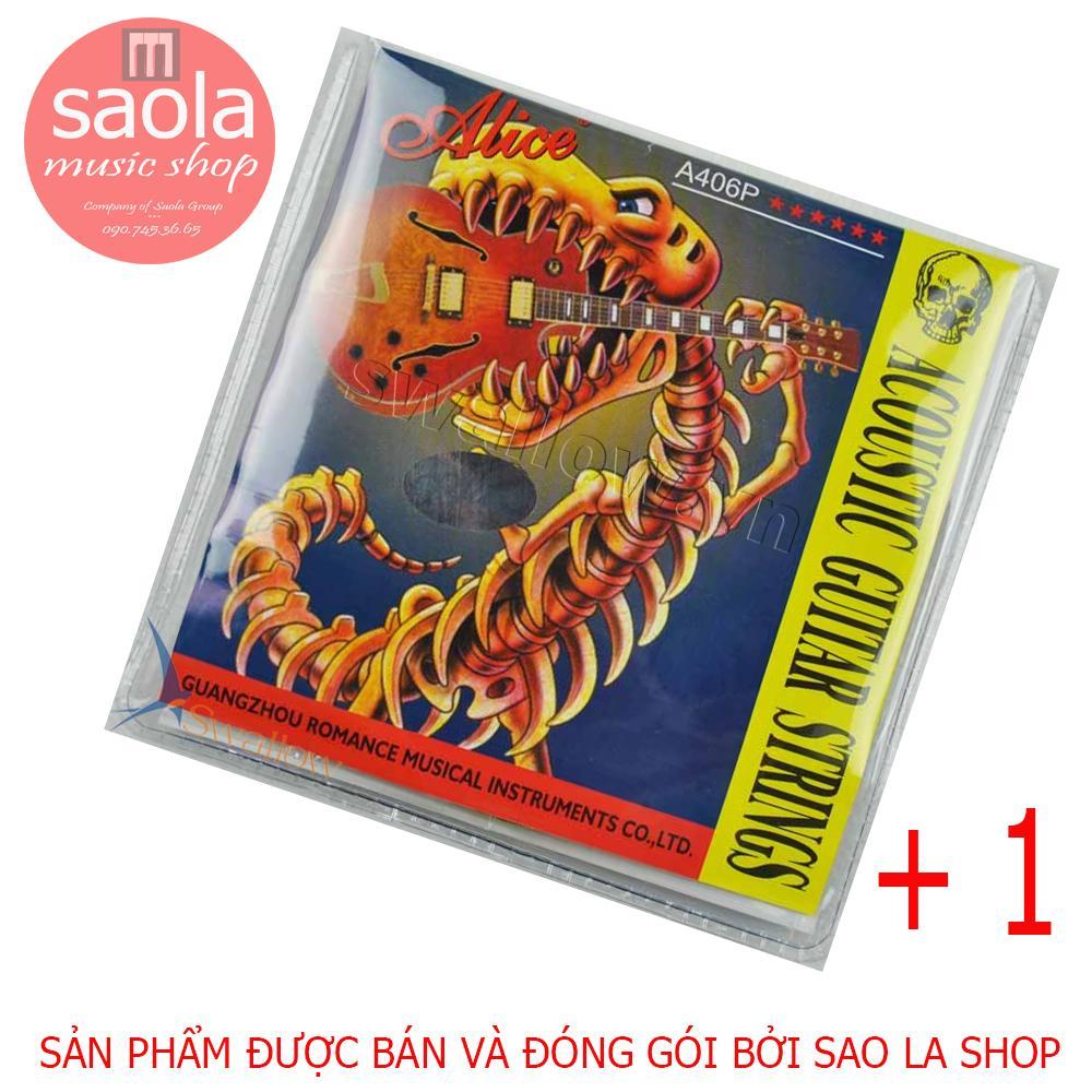 Bộ 6 Dây Đàn Ghi-ta Acoustic A406 + Thêm 01 Dây Số 1 Sơ Cua