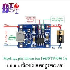 Mạch sạc pin lithium-ion 18650 TP4056 1A -Combo 5 chiếc