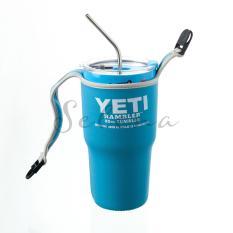 Combo ly giữ nhiệt Thái Lan có nắp chống tràn + túi chống sốc + 2 ống hút + 1 cọ rửa – tặng dây đeo vai