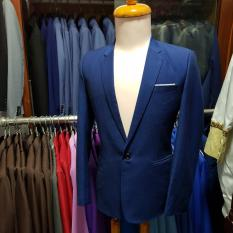 Bộ vest nam body kiểu xanh đen