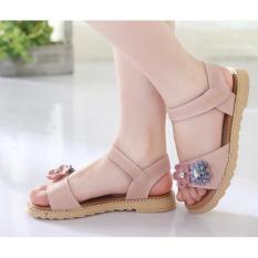 Dép sandal bé gái hoa trà