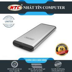 Box chuyển SSD M2 Sata sang ổ cứng di động Unitek Y-3365 chuẩn 3.0 hỗ trợ đến 5Gbps (Xám) – Hãng phân phối chính thức