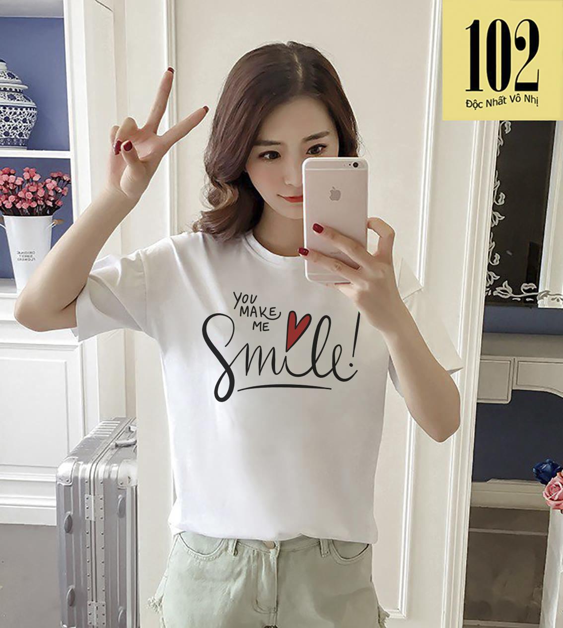 AO THUN NU YOU MAKE ME SMILE ATNK960 Form Rong Han quoc AoThun102