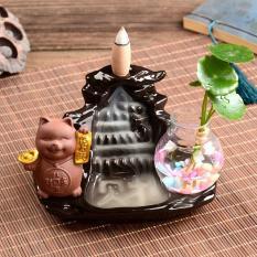 Thác Khói Trầm Hương – Mèo Thần Tài + 10 nụ trầm hương