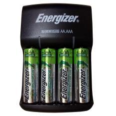 Máy sạc pin Energizer CHVC4 kèm 4 viên pin sạc AA 1300mAh- sạc được 2 hoặc 4 viên pin sạc AA hoặc AAA dòng NiMH