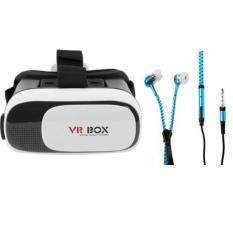 Kính thực tế ảo VR Box + Tặng Tai Nghe Kéo Khoá(giao màu ngẫu nhiên)