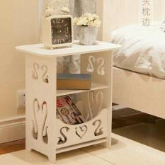 Kệ vuông đầu giường bàn trang điển thiên nga tặng khăn chài bàn