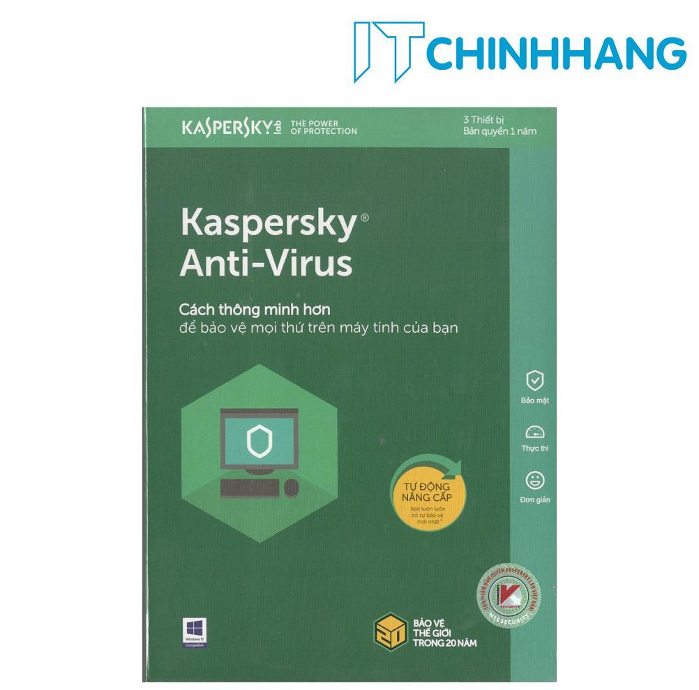 Mua Kaspersky Anti-Virus Security 3PC (1 năm) – Hãng Phân Phối Chính Thức Tại IT Chính Hãng Offical Store
