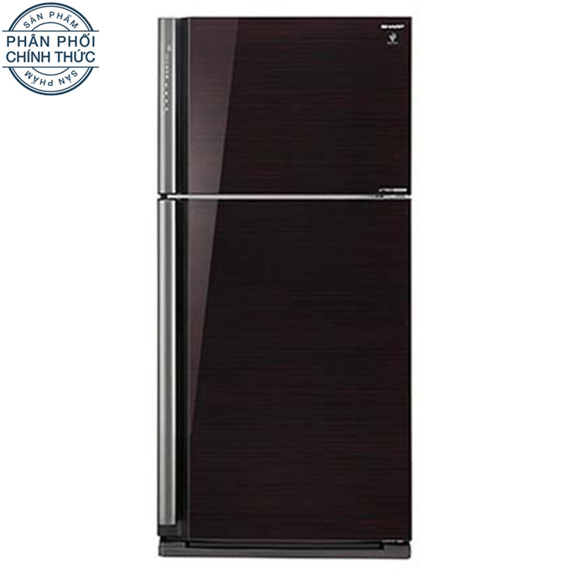 Tủ lạnh Sharp Dolphin SJ-XP590PG-BK 585L (Đen)