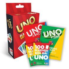 Combo UNO STORM BATTLE + 2 Gói bọc bài Uno