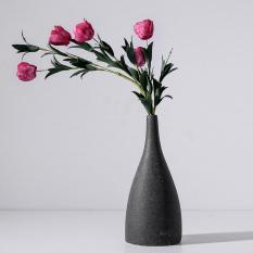 Lọ hoa trang trí Rossa Black 9 * 9 * 20.5 cm