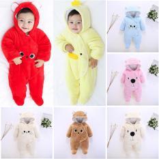 Bộ áo liền quần / Body nỉ bông mặc ấm mùa đông cho bé (Body ủ ấm Sleepsuit- Jumpsuit) MS:BDL33