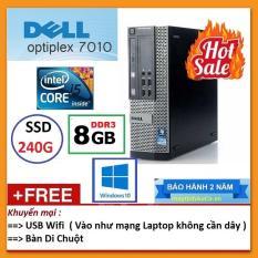 Thùng Dell optiplex 7010 ( Core i5 2400 / 4G / SSD 240G ), Tặng USB Wifi , Bàn di chuột – Bảo hành 24 tháng – Hàng Nhập Khẩu
