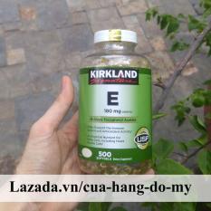 Vitamin E Kirkland 400 IU Mẫu Mới Nắp Trắng có hút ẩm của Mỹ- 500 Viên [DATE MỚI] – Vitamin E của Mỹ giúp sáng da, mịn màng.