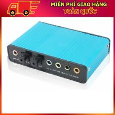 Card âm thanh box 5.1 USB 6CH + Optical audio (Xanh)