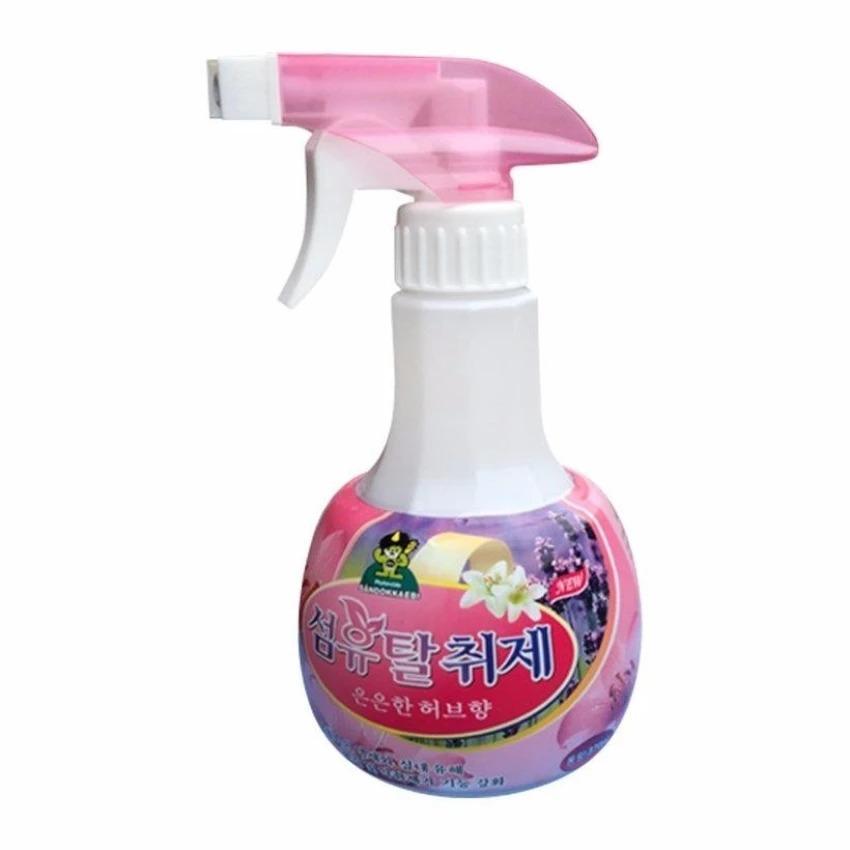 Chai xịt khử mùi vải vóc đa năng Sandokkaebi Korea 370ml thảo mộc ÊM DỊU