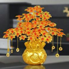 Cây cành vàng lá ngọc túi tiền trang trí ngày tết