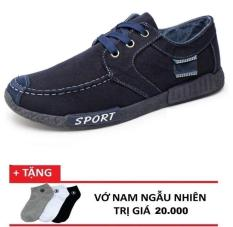 Giày thể thao Sneaker nam Demin OCCO (Xanh đen) + 1 đôi vớ tặng kèm