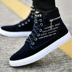 Giày Sneaker Thời Trang Nam Cao Cổ Khóa Kéo – G360002XD