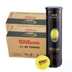 Thùng bóng tennis Wilson đen 4 quả