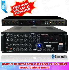 Ampli Bluetooth Amply Karaoke OMATON F-6300X ( Tặng Lọc Xì YOO-MINH EQ-33 )