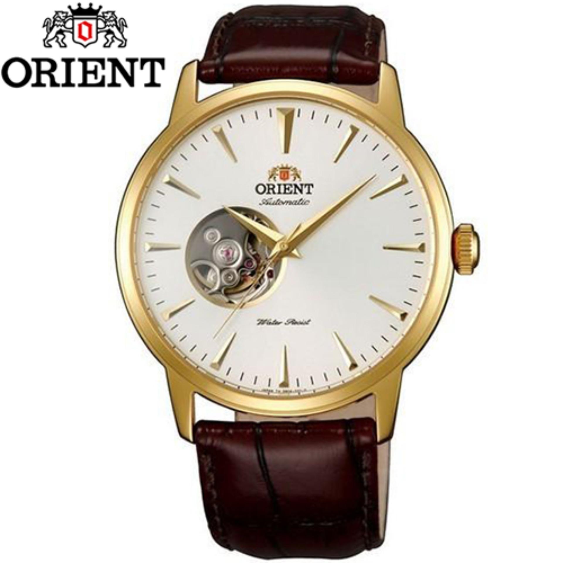 Đồng hồ nam dây da máy cơ automatic Orient FDB08003W0