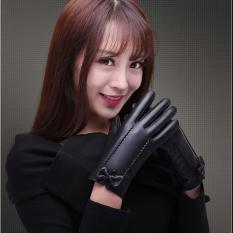 Găng tay da nữ, Bao tay da nữ giữ ấm cảm ứng điện thoại thiết kế hợp thời trang-BTDN02