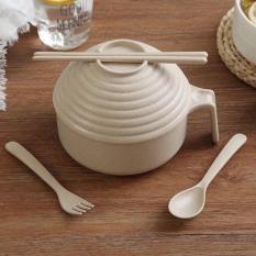 Bát úp mỳ bằng lúa mạch có tay cầm tiện dụng