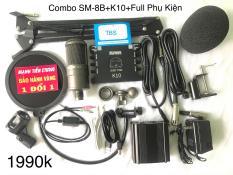 Trọn Bộ Combo Micro Takstar SM-8B + Soundcard XOX K10 + Full Phụ Kiện