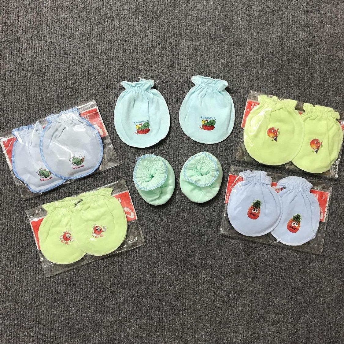 Combo 5 bộ bao tay chân Minh Hoàng cho bé sơ sinh