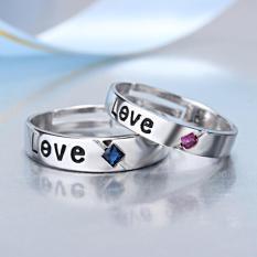 Nhẫn cặp kim cương nhân tạo lấp lánh tình yêu lãng mạn SPR-JZ090