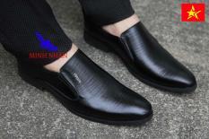 Giày tây nam công sở sang trọng da bò nguyên tấm GL-28 (đen) [Minh Nhân Shop]