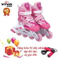 Giày Trượt Patin Cao Cấp (SIZE L) & Đồ Bảo Hộ – VIVA SPORT ( TẶNG 1 DÂY NHẢY )