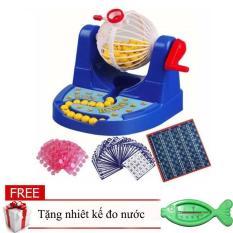 Bộ Đồ Chơi Lô Tô Bingo Trí Tuệ Cho Bé/đồ chơi quay sổ xố giá rẻ tặng nhiệt kế đo nước tắm hình cá