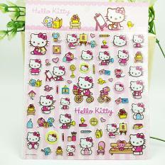 Hình dán sticker mèo Kitty 2 (dạng hình dập nổi 3D cứng)